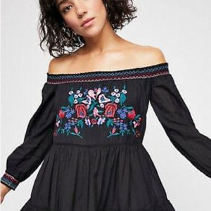 Free People Sunbeam Mini Embroidered Dress